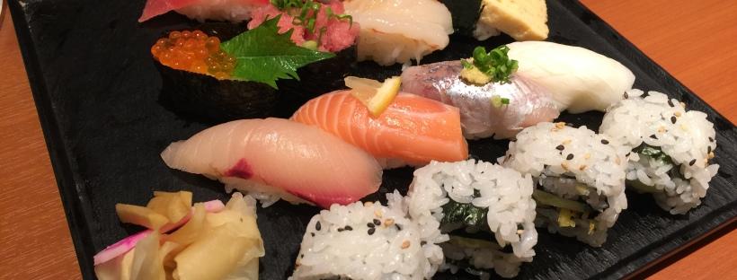 Fresh sushi in Ueno Station, Tokyo
